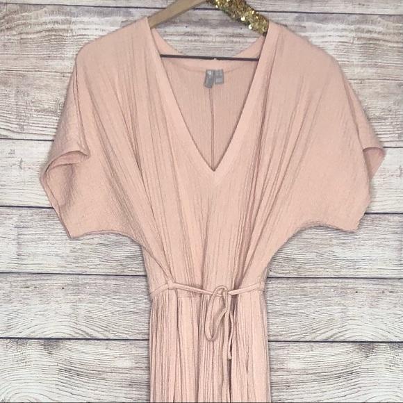 ASOS   Soft Peach Linen Maxi Dress